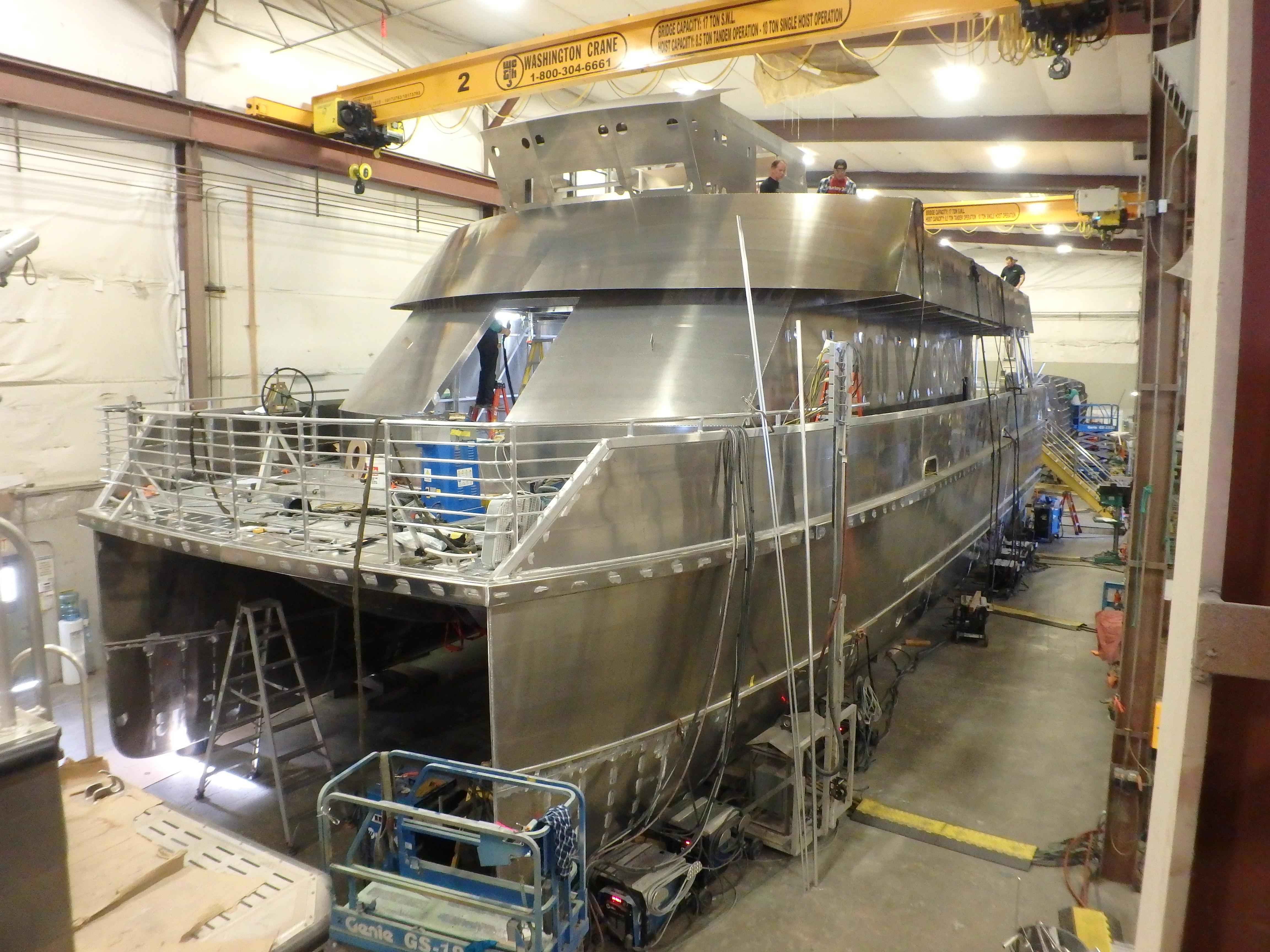Aluminum Catamaran Hull Ferry Designed Using Maxsurf